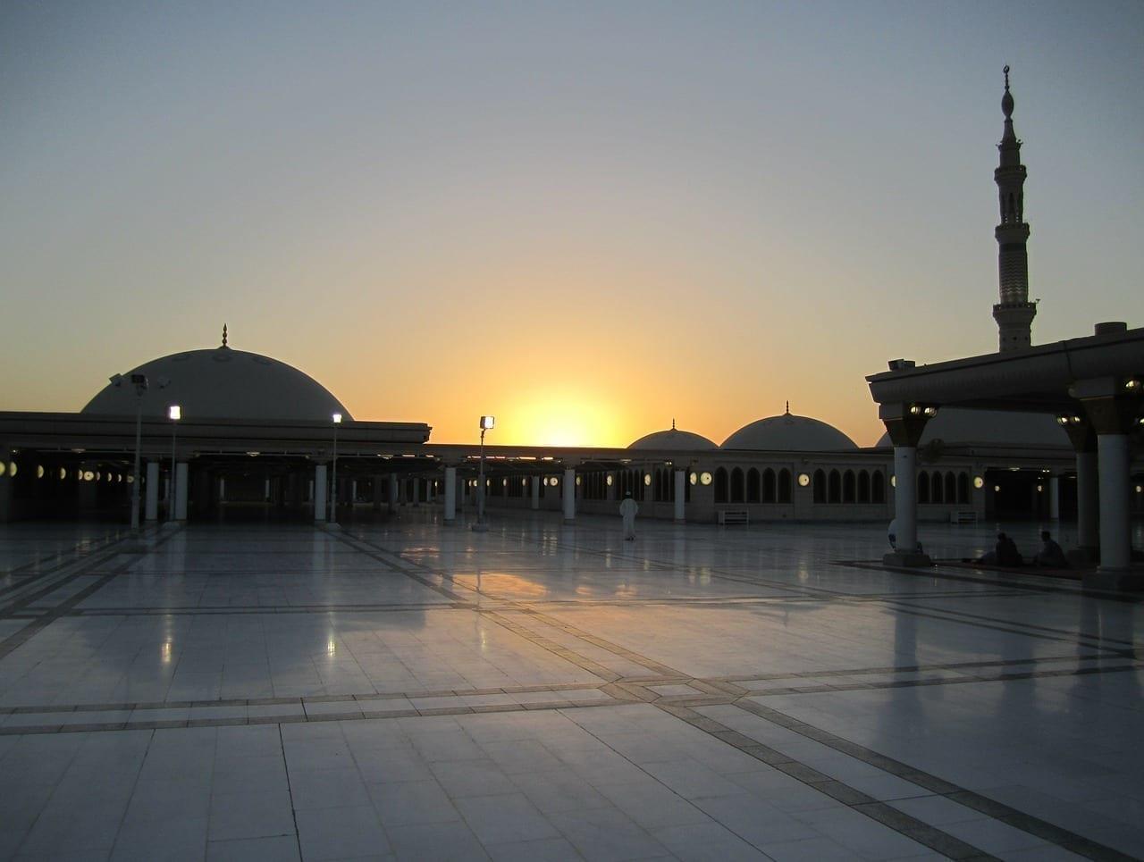 Arabia Saudí Puesta De Sol Mezquita