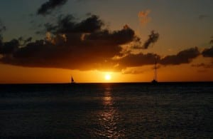 Aruba Puesta De Sol Caribe
