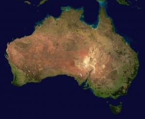 Australia Continente Vista Aérea