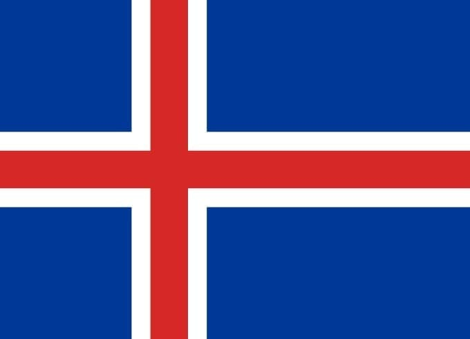Bandera de Islandia