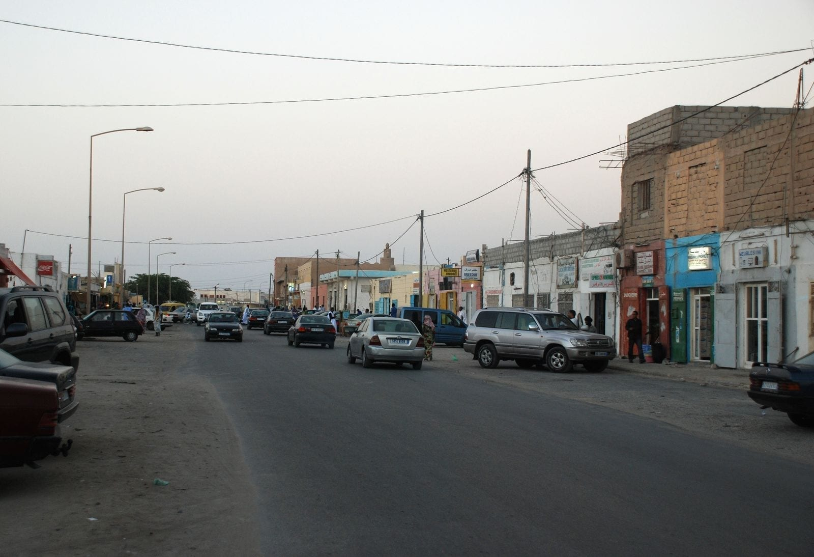 Boulevard Median, la principal calle comercial Mauritania