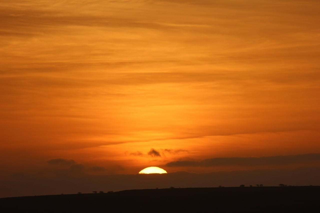 Cabo Verde Puesta Del Sol Cielo