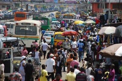 Calle áfrica Ghana