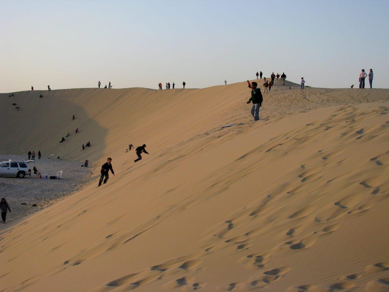 Cantando las dunas de arena Catar