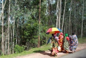 Carretera de la aldea en Burundi Burundi