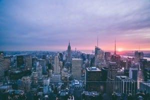 Ciudad De Nueva York Paisaje Urbano Nueva York