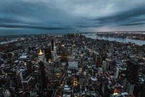 Ciudad De Nueva York Urbana Paisaje Urbano