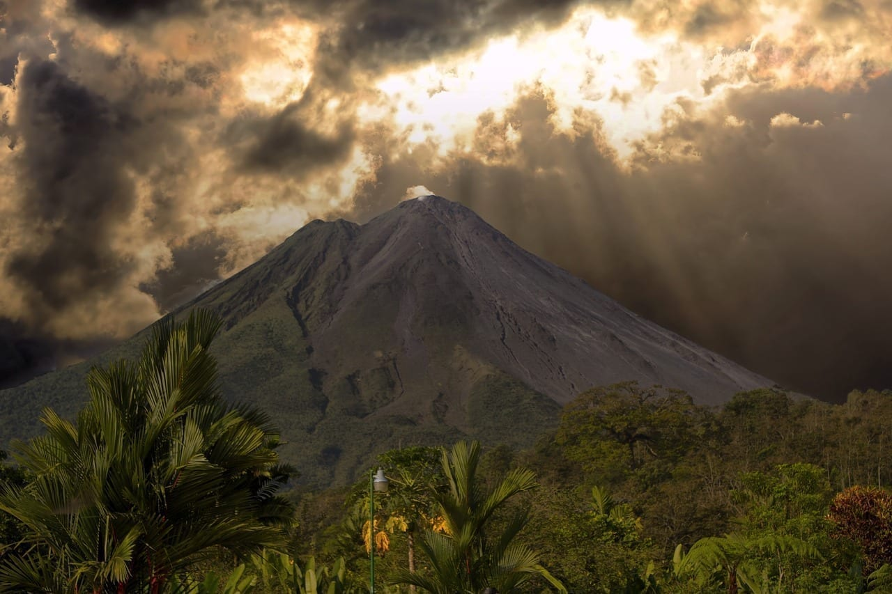Costa Rica Volcán Paisaje