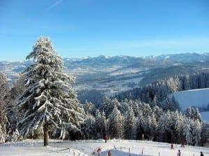 Vista del Bregenzerwald desde Pfänder Austria