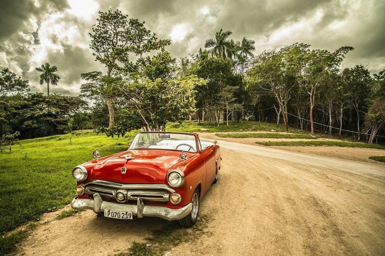 Cuba Coche Antiguo Viejo Coche