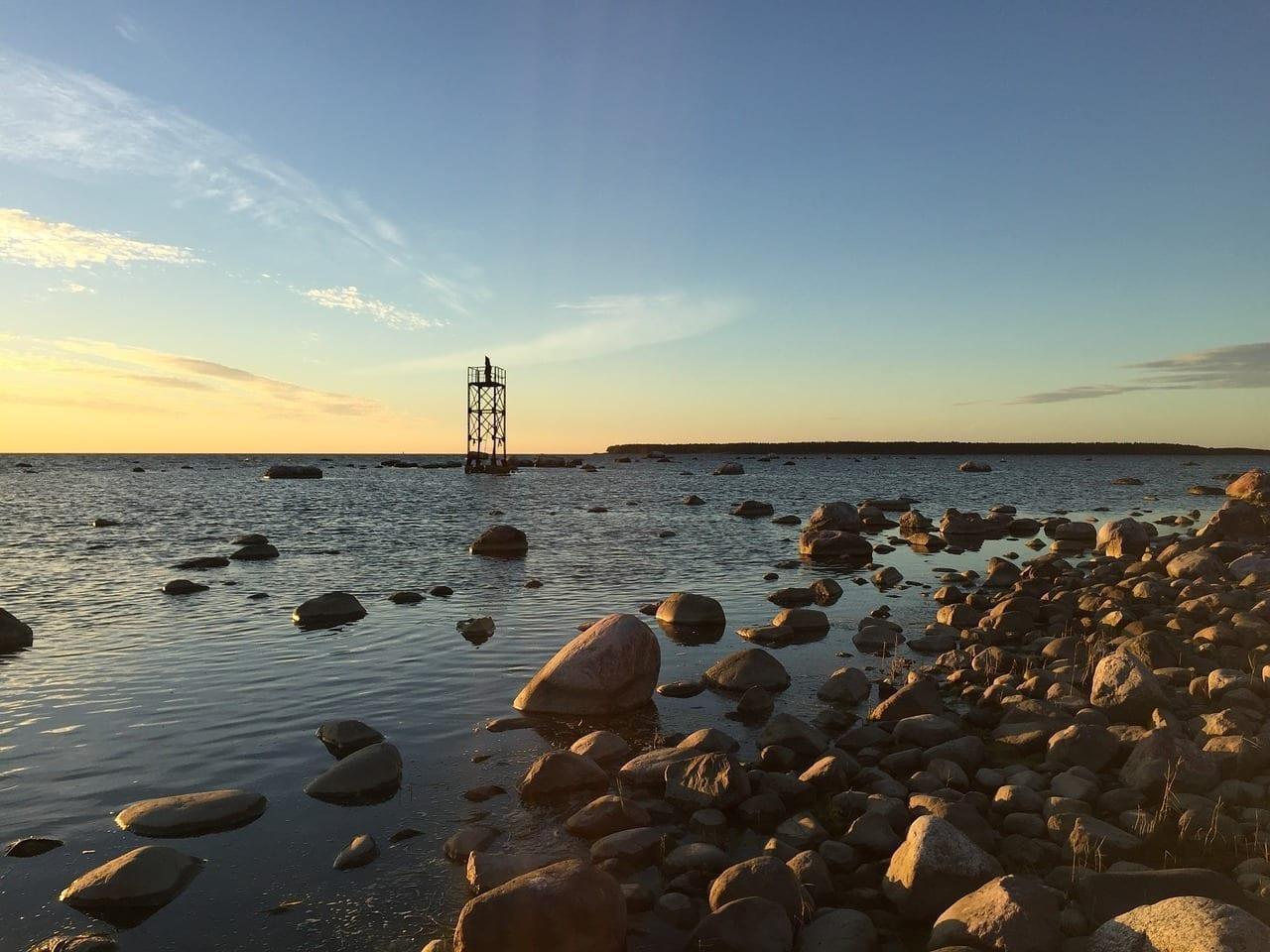 Después De La Puesta Del Sol Estonia Tallin
