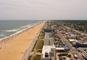 El área del complejo turístico de Virginia Beach Estados Unidos