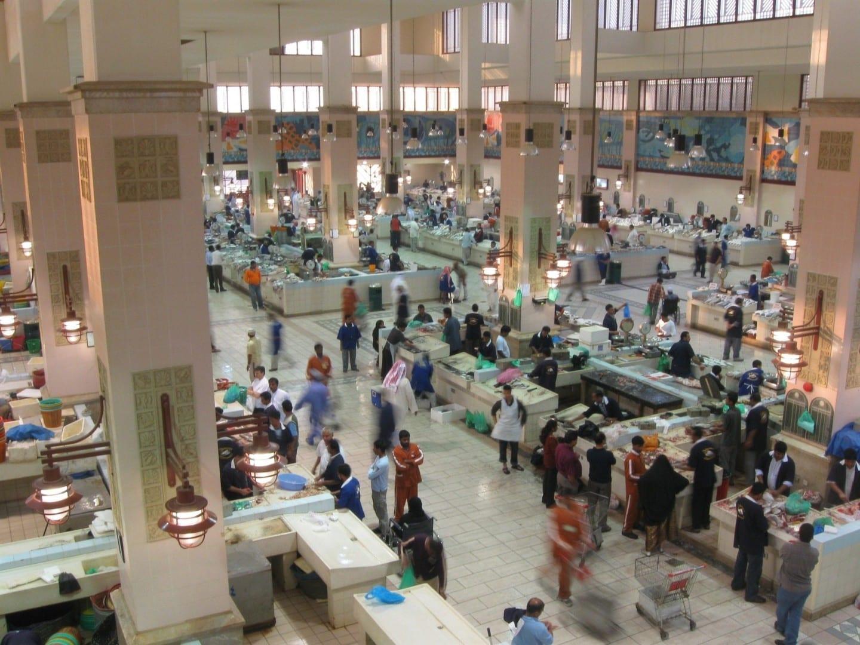 El bullicioso mercado de pescado de la ciudad de Kuwait Kuwait