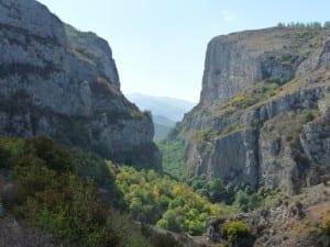 El Cañón de Karkar bajo Shushi Azerbaiyán
