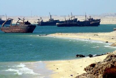 El cementerio de barcos Mauritania