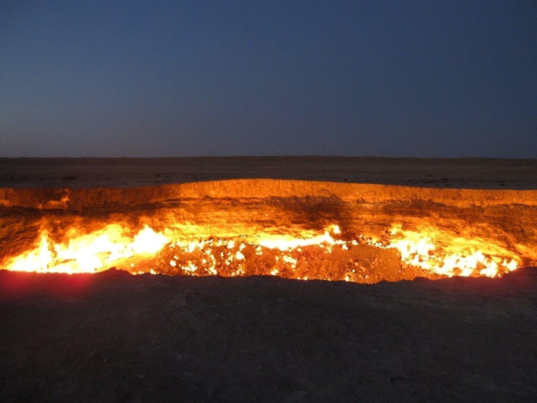 El cráter en llamas de Darvaza Turkmenistán