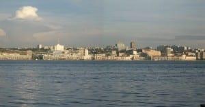 El horizonte de Luanda Angola