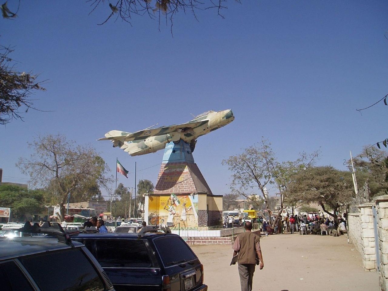 El memorial del MiG Jet Somalia