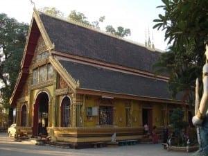 El monasterio de Wat Si Muang en Vientiane República Democrática Popular Lao