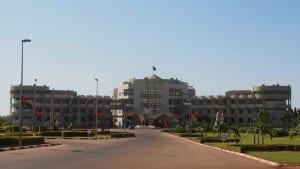 El Palacio Kosyam, el palacio presidencial. Burkina Faso
