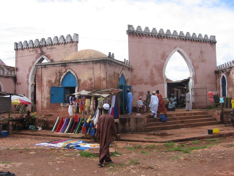El viejo mercado de Bafatá Guinea-Bisáu