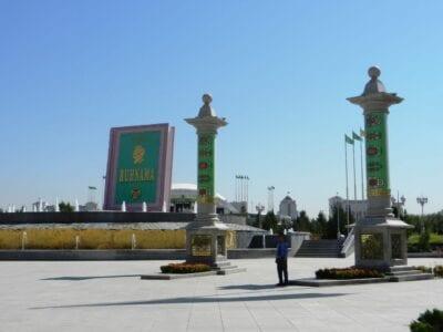 Escena callejera de Ashgabat Turkmenistán