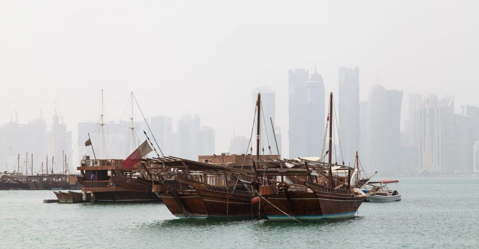 Espectáculos en la bahía de Doha Catar