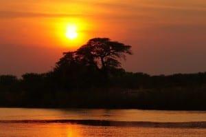 áfrica Crepúsculo Botswana