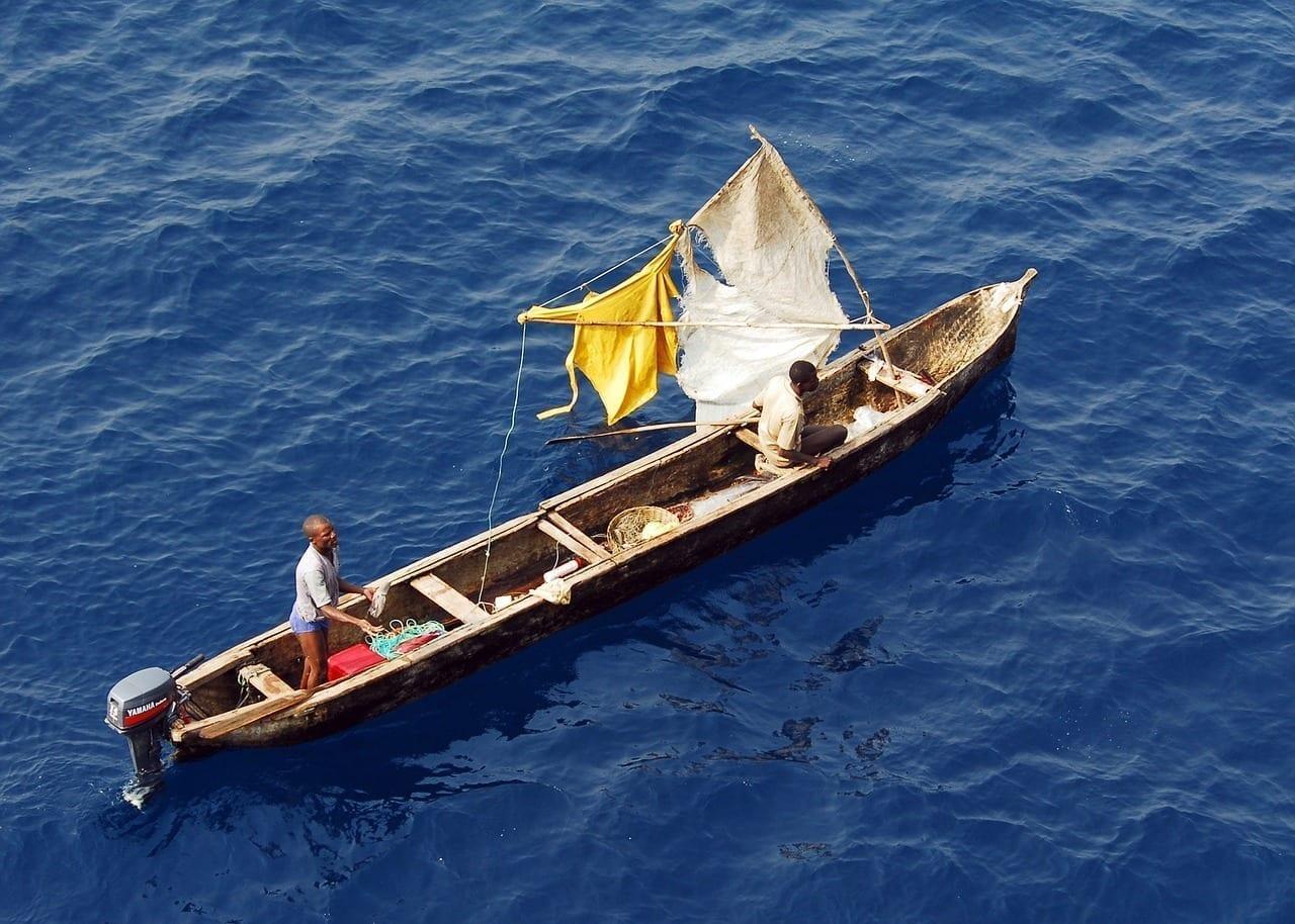 Golfo De Guinea Barco Pescadores
