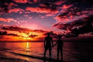 Isla Fraser Australia Puesta Del Sol