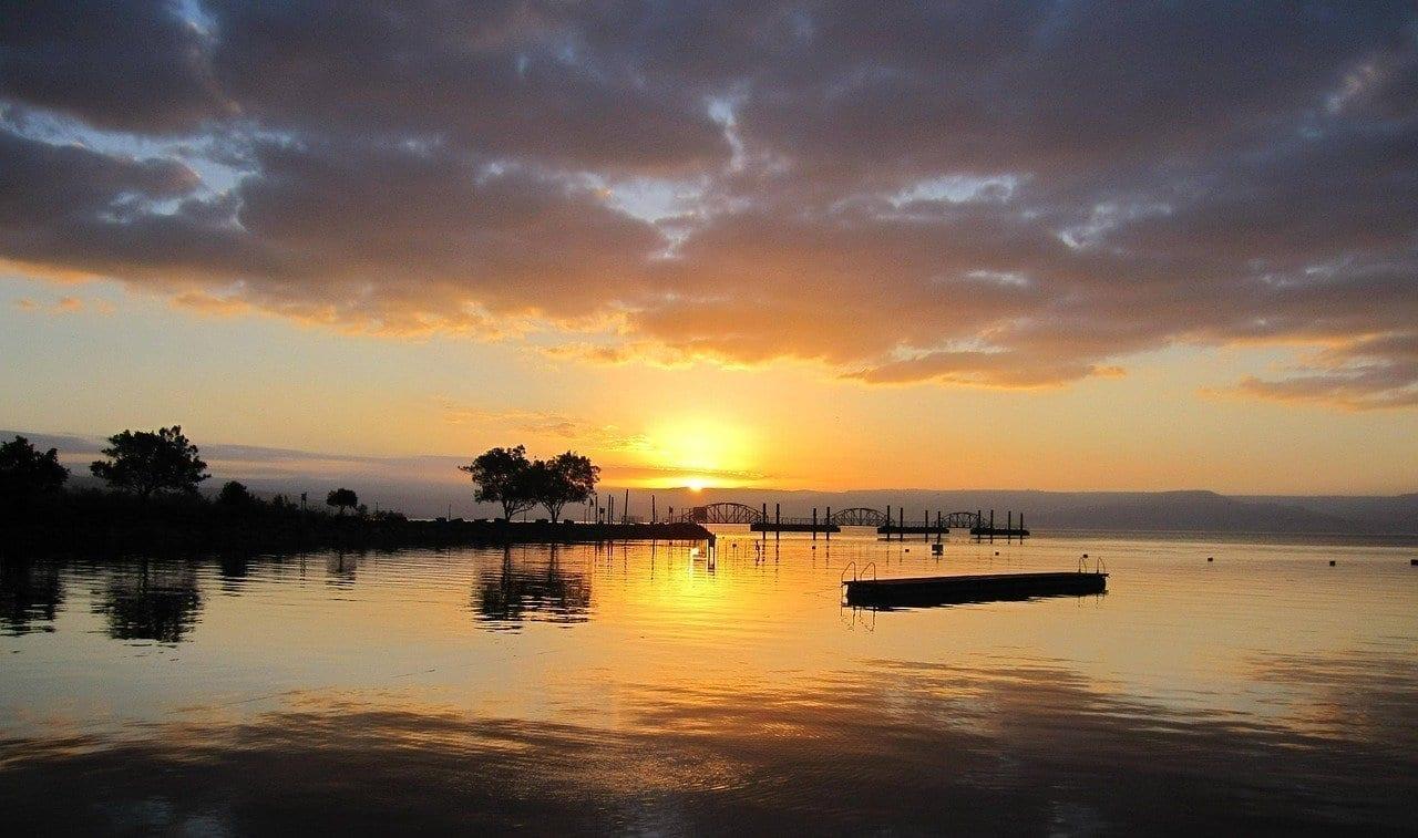 Israel Mar De Galilea Sunrise