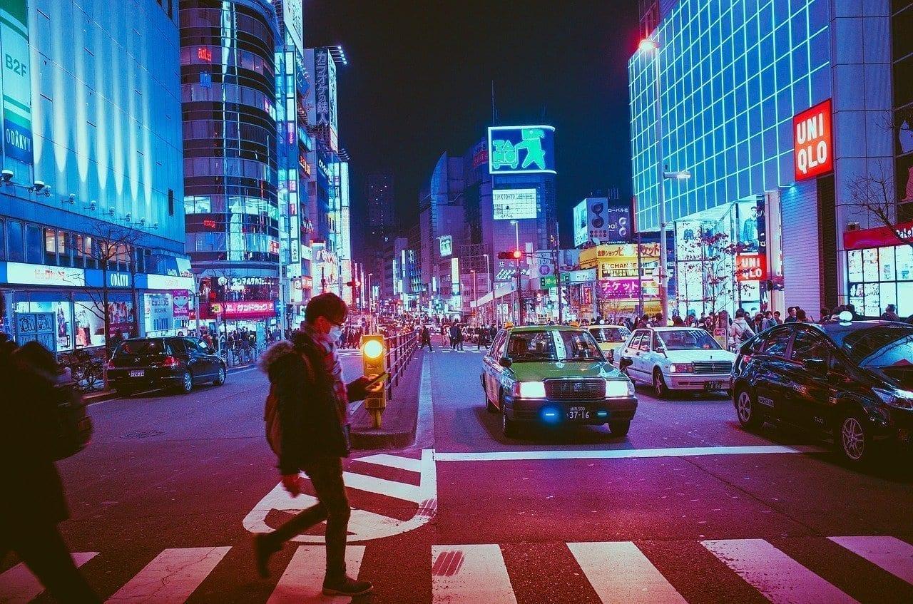 Japón Osaka Noche