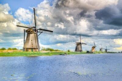 Kinderdijk Holandés Países Bajos