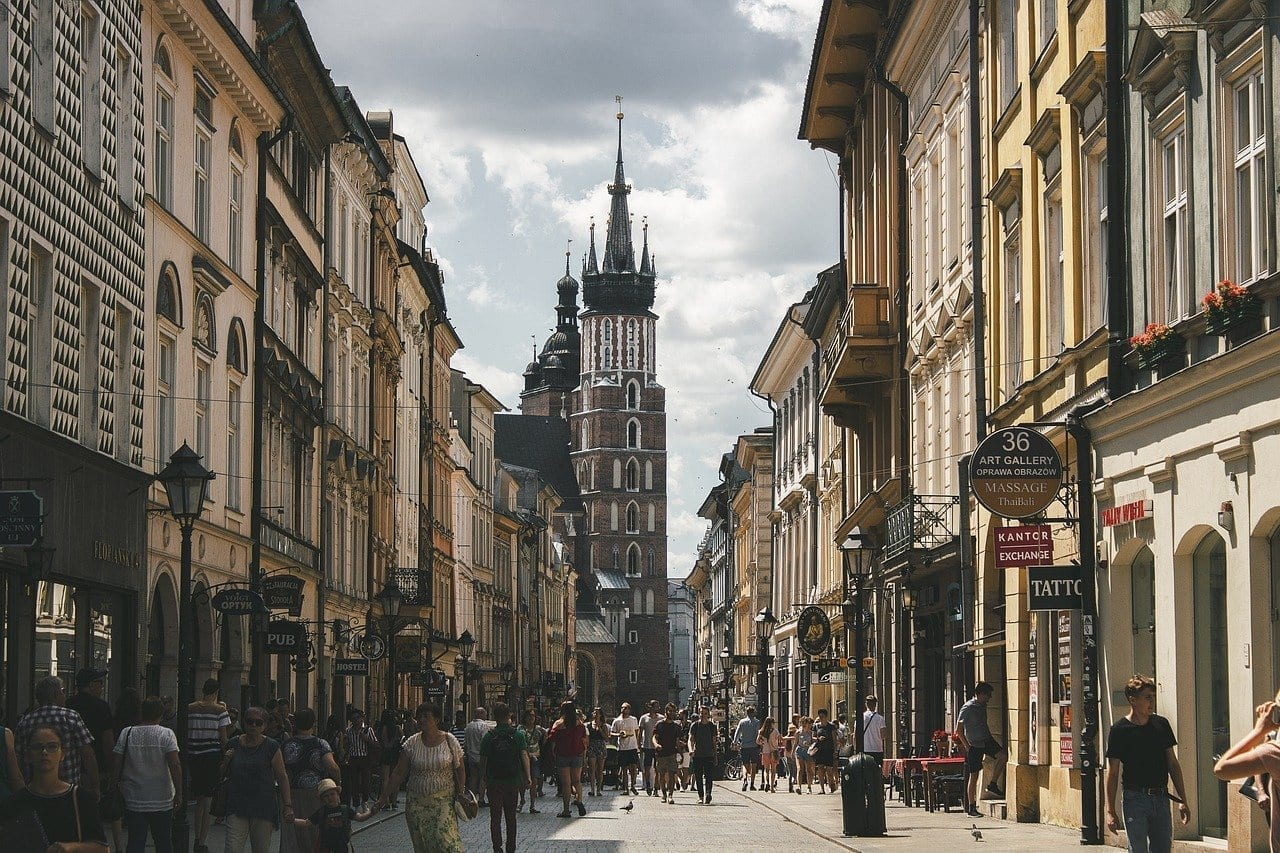 Krakow Calle Polonia