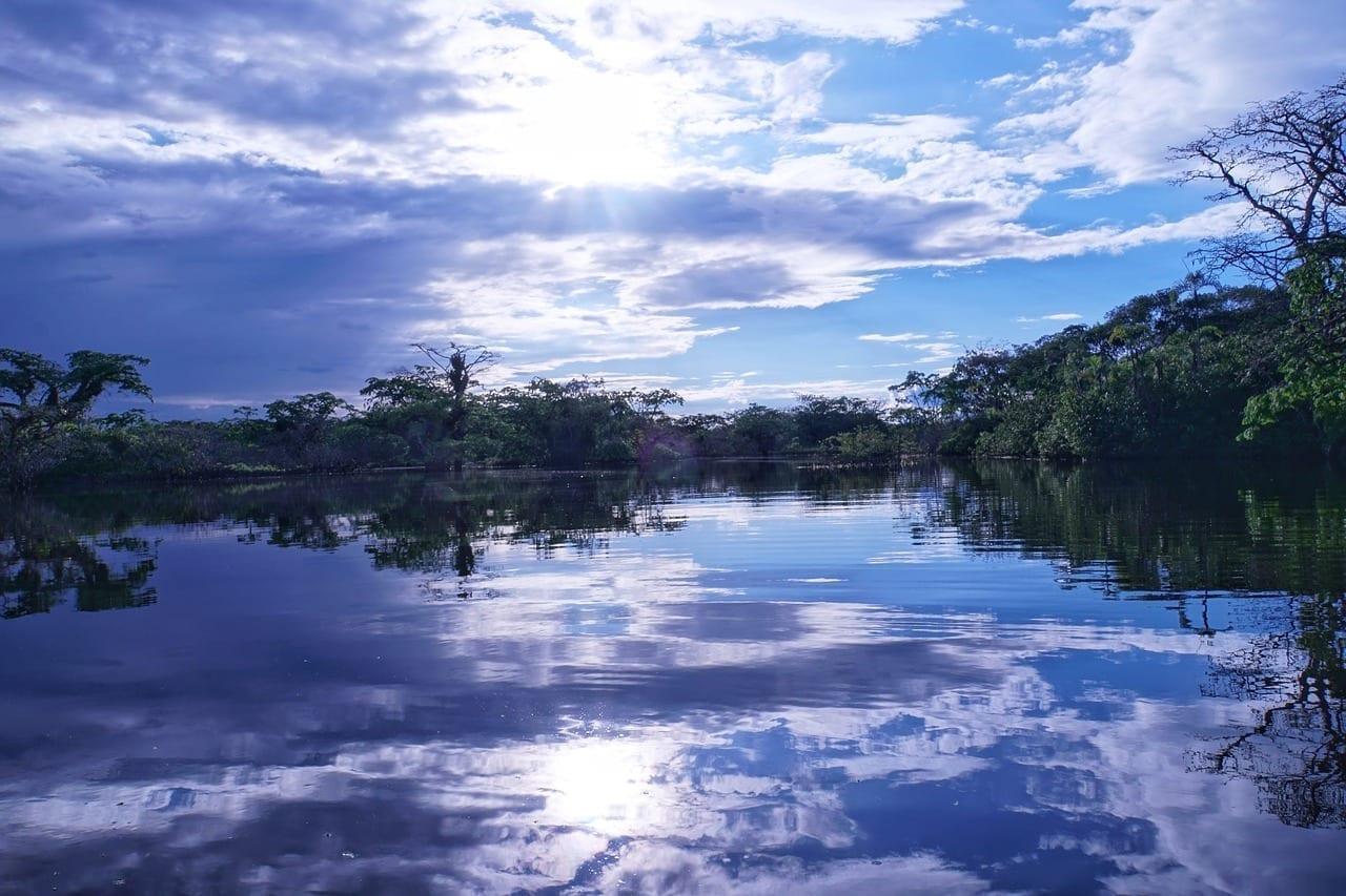 La Amazonía Ecuador Puesta De Sol