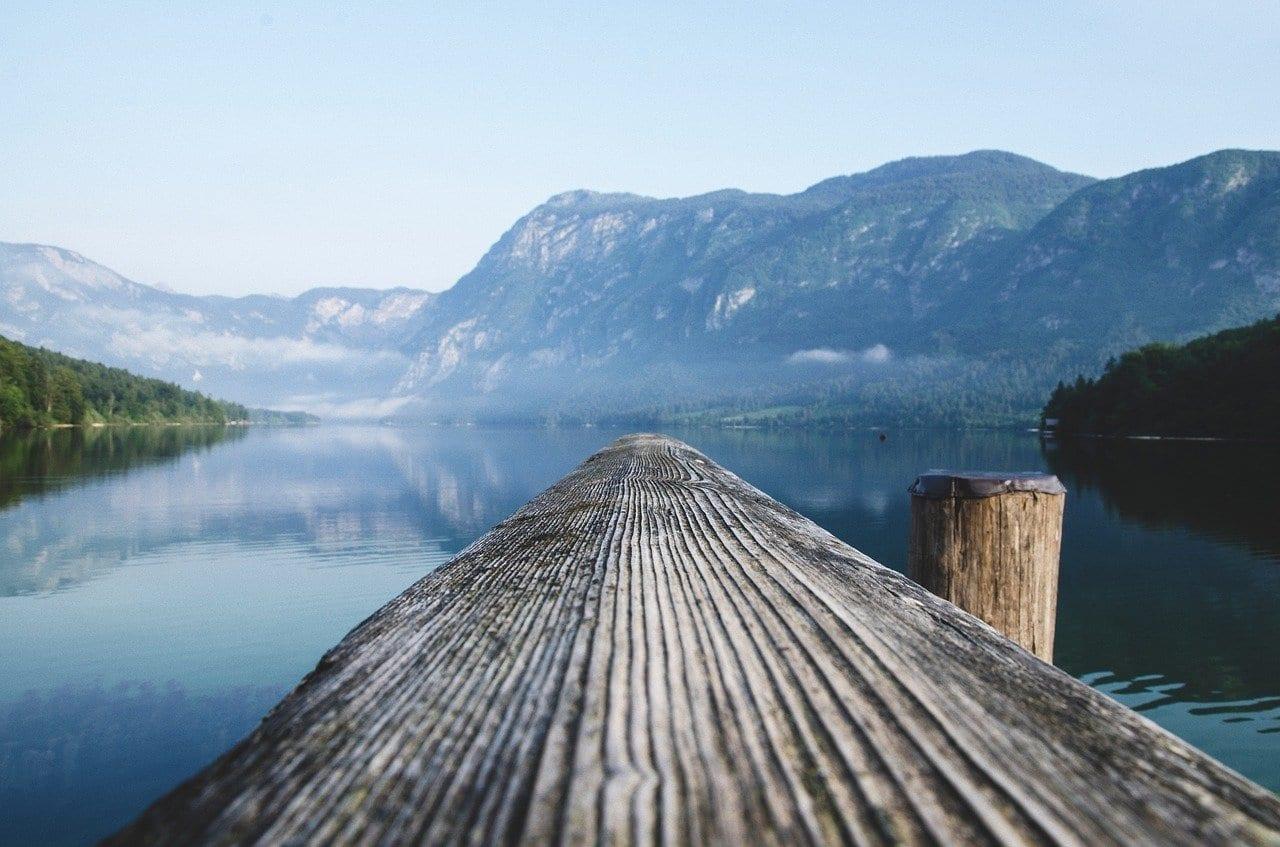 Lago Eslovenia Muelle