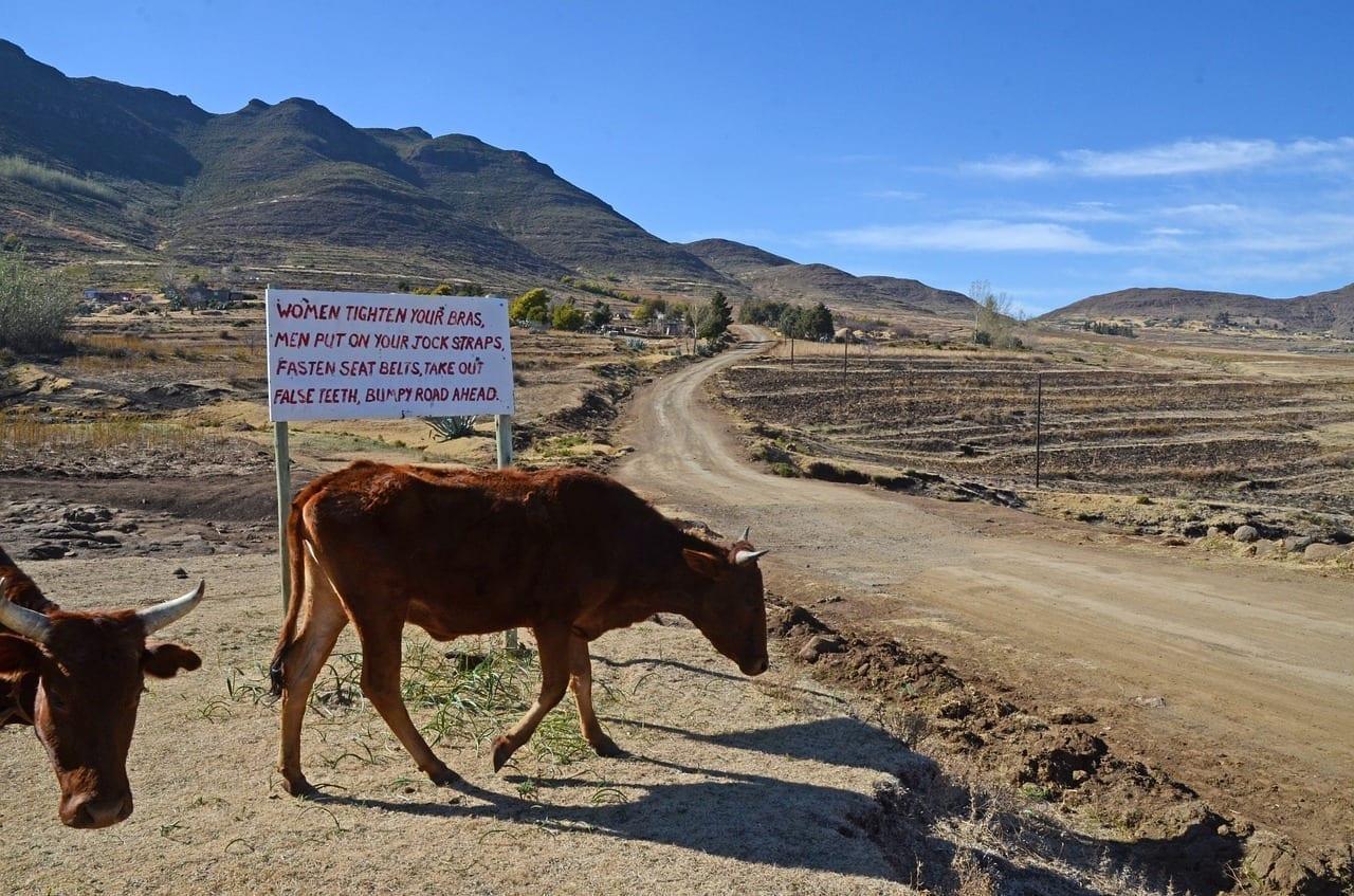 Lesotho Por Carretera Signo