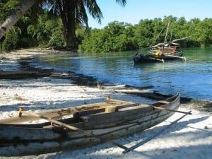 Madagascar Canoa Pescador