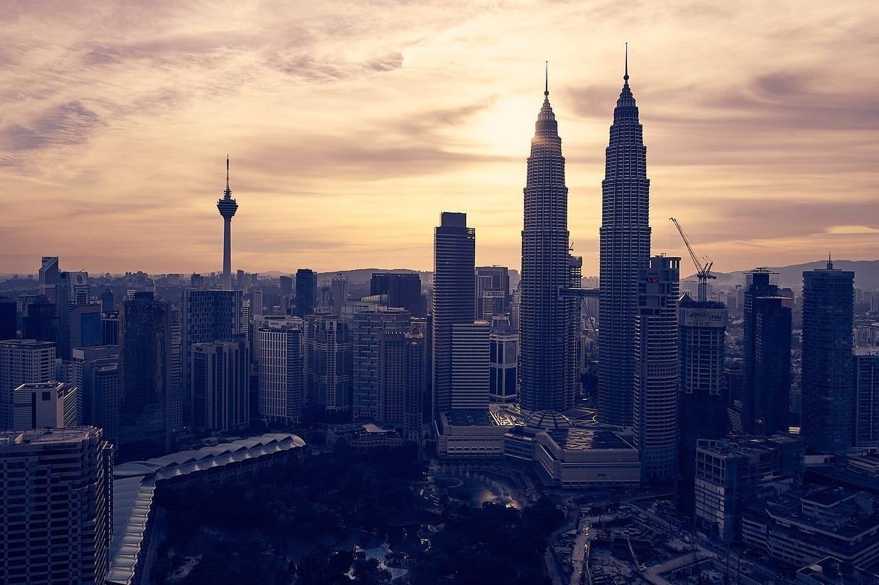 Malasia Kuala Lumpur Puesta De Sol