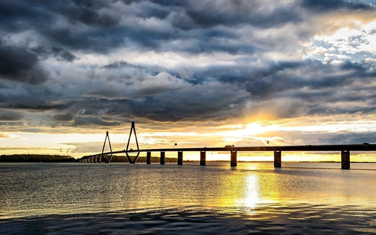 Mar Báltico Puente Dinamarca