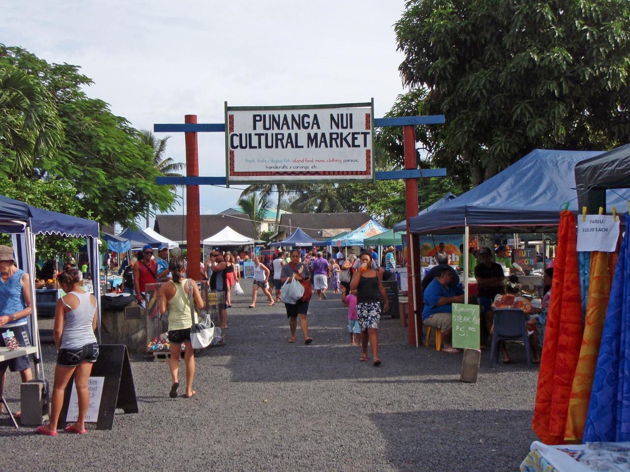 Mercado Cultural Punanga Nui, Rarotonga Islas Cook