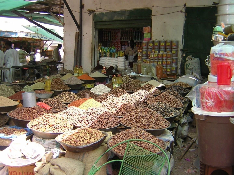 Mercado en el Sudán Sudán
