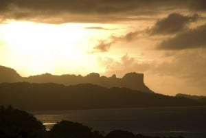 Micronesia Puesta De Sol Cielo