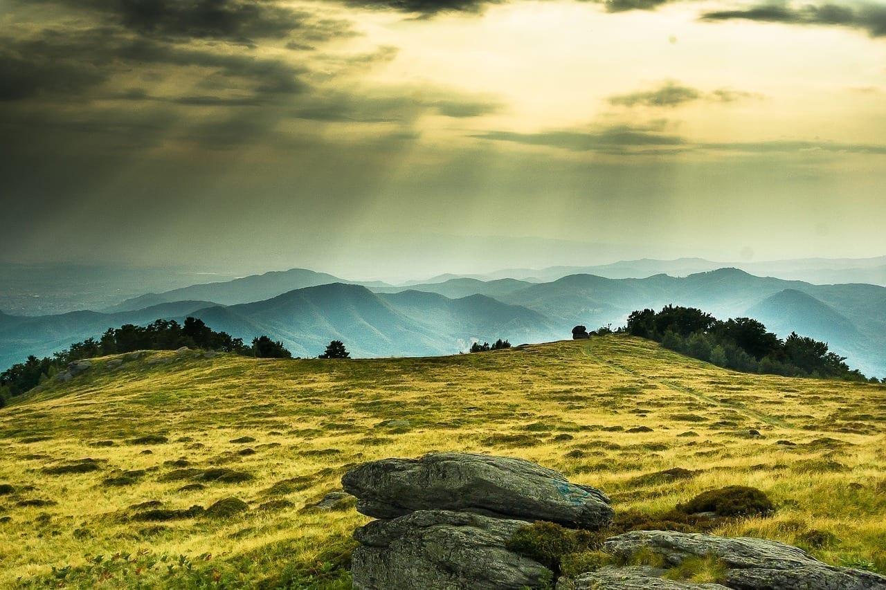 Montaña Puesta De Sol Rumania