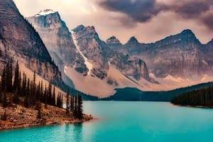 Moraine Lake Canadá Montañas