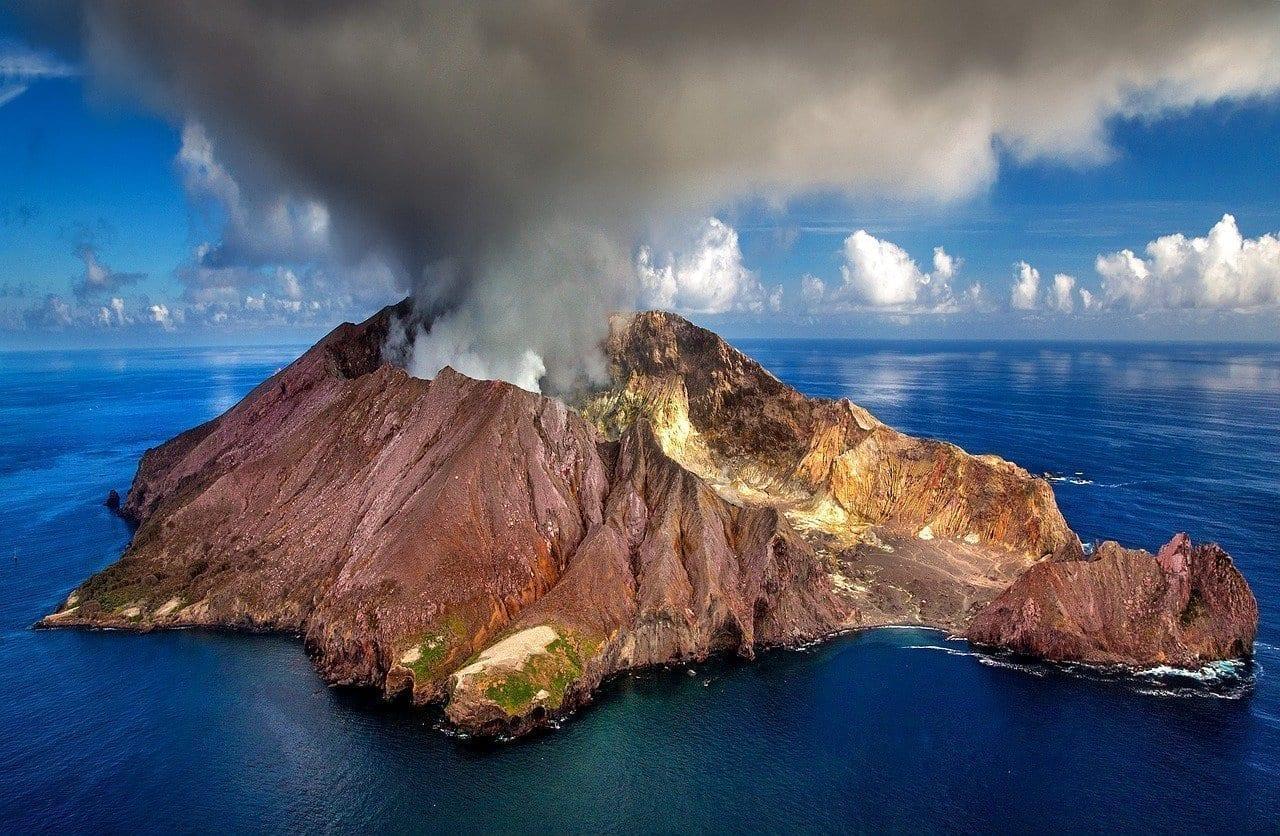 Nueva Zelanda Volcán Cráter