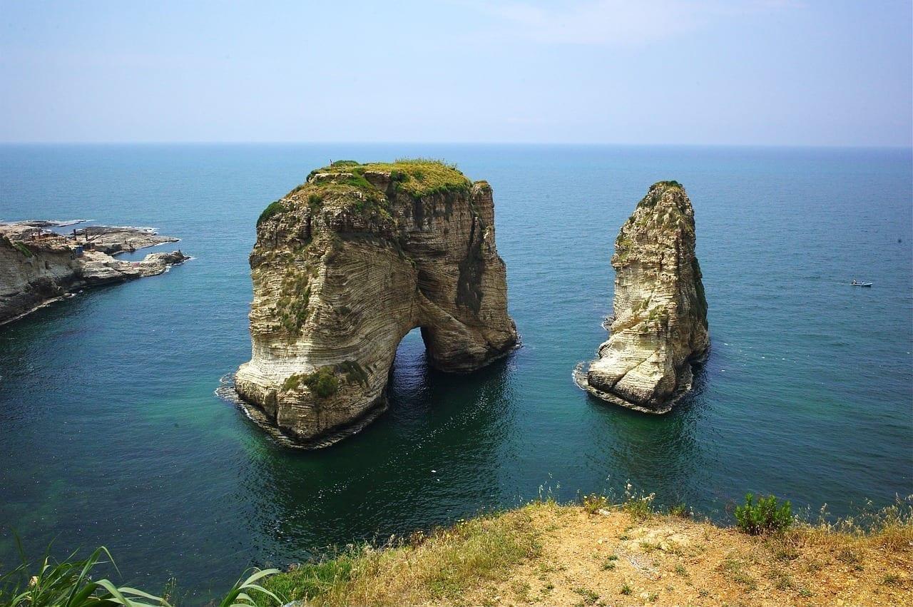 Paisaje Líbano Mar