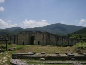 Parte de las paredes del otrora poderoso Preslav Bulgaria