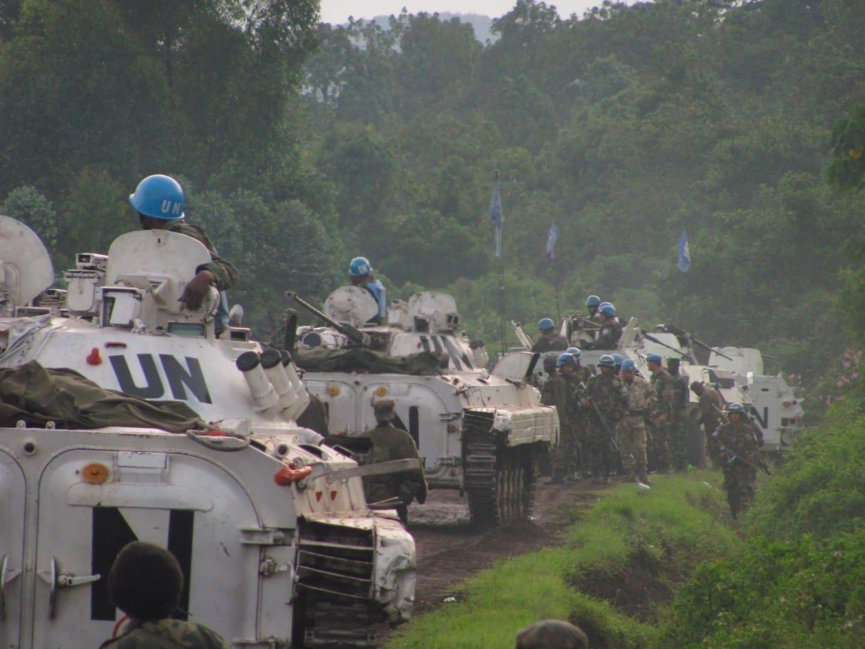 Personal de mantenimiento de la paz de las Naciones Unidas cerca de Goma Congo (Rep. Dem.)