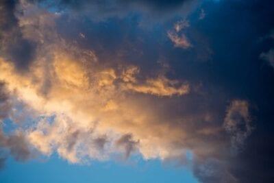 Puesta De Sol Nubes Reunión
